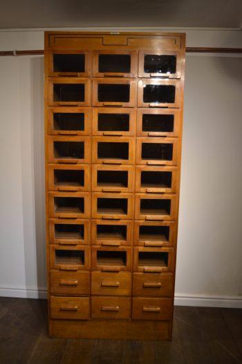 Oak Haberdashery Drapers Cabinet