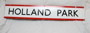 Vintage 1950s Holland Park Tube Station Sign