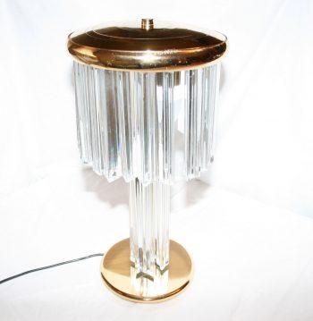 Mid-Century Glass Lamp