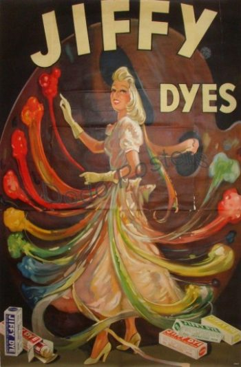 Antique Jiffy Dyes Poster