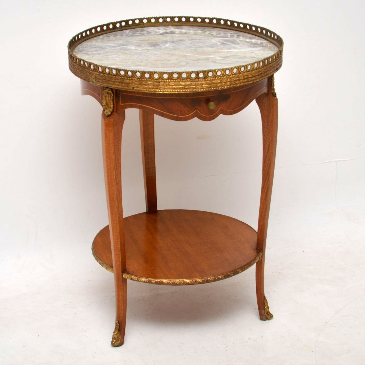 Antique French Marble Top Side Table