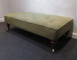 A large rectangular stool