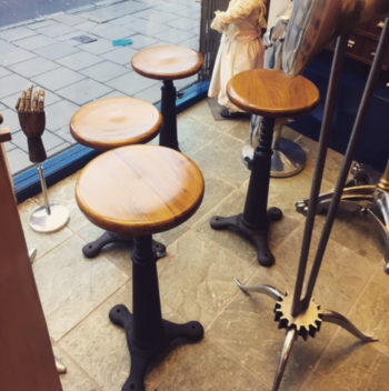 Set of four singer stools
