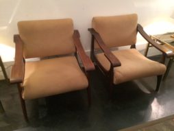Pair French Mid Century chairs