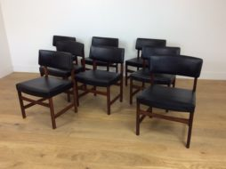 Mid century rosewood dining chairs set of 8