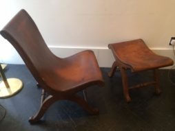 Easy Chair and Stool Set