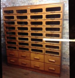 Stunning Oak Drapers Haberdashery Shirt Cabinet