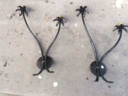 Pair of Fer Forge Wall Lights