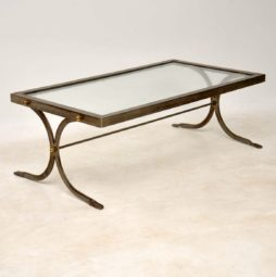 1950's Iron & Brass Vintage Coffee Table