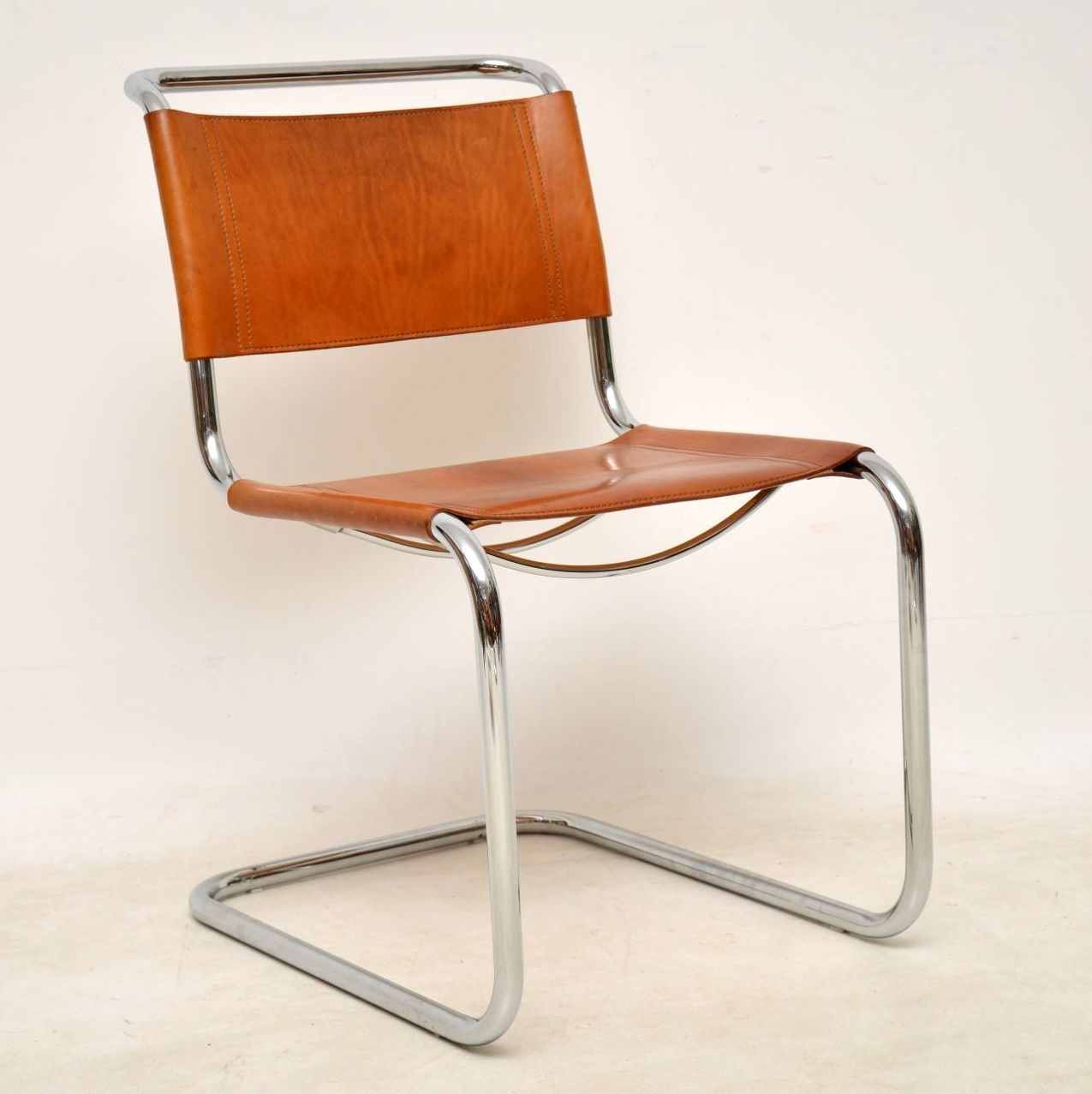9's Vintage Italian Leather Dining Chairs by Mart Stam for ...