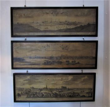 a set of three 18thC etchings