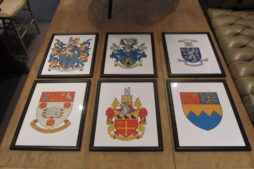 A set of 18 English public schools crests and arms