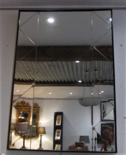 A Swedish trellis panelled mirror