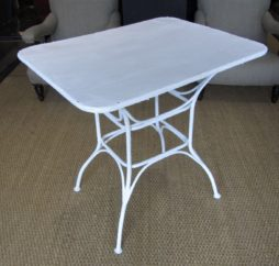 A French wrought iron garden table
