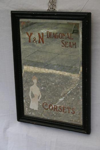Antique Advertising Corsets Mirror