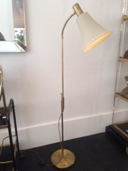 1950s Brass Floor Lamp