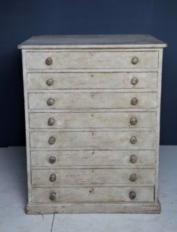 A painted pine bakers proving chest