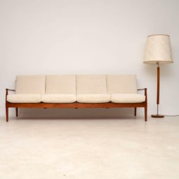 1960's Danish Teak Four Seat Sofa by Grete Jalk for France & Son