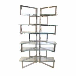 Mid-century chrome shelving unit