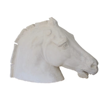 Early 20th Century plaster head of a horse