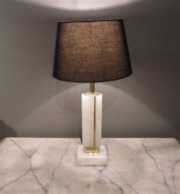 A pair of Alabaster table lamps