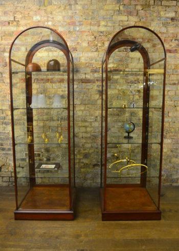Pair of Mahogany Bow Top Cabinets