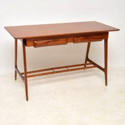 1950's Vintage Mahogany Italian Desk / Writing Table