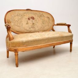 Antique French Gilt Wood Salon Sofa