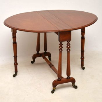 Antique Victorian Mahogany Drop Leaf Sutherland Table