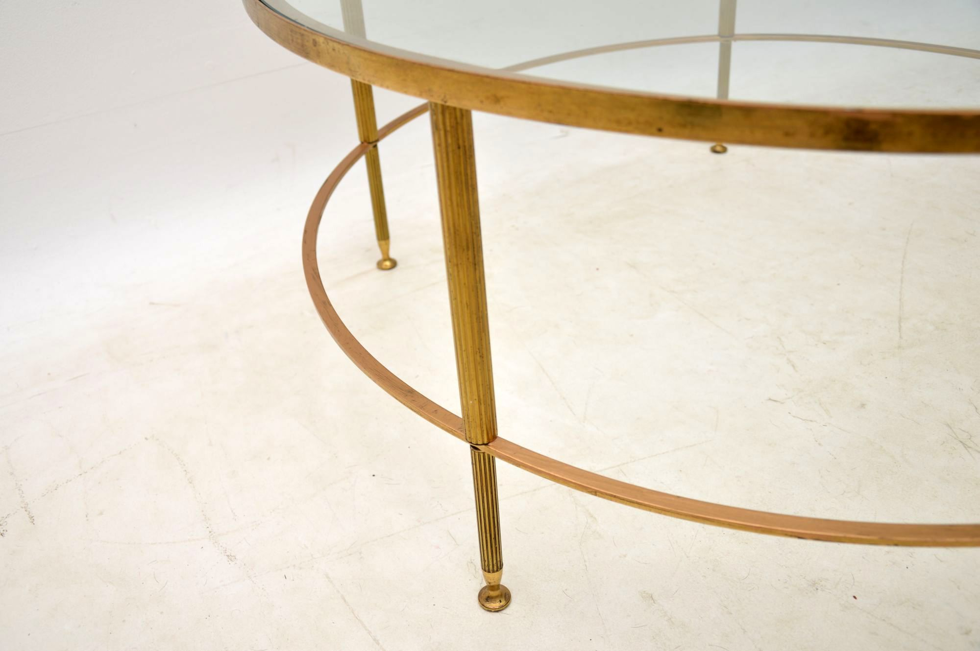 1960 S French Brass Glass Coffee Table Interior Boutiques