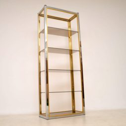 1970's Italian Chrome Bookcase / Display Cabinet by Zevi