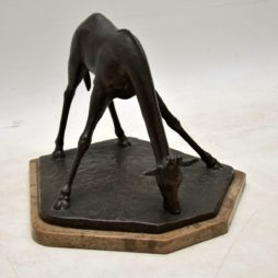 Art Deco Bronze Sculpture of a Giraffe by Herbert Palliser