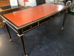 French ebonised desk