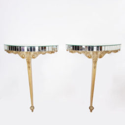 Pair of Giltwood & Mirror Console Tables