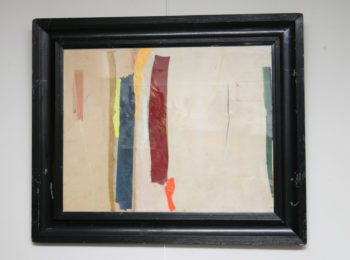 Fabric 4 Abstract Collage by Artist Huw Griffith