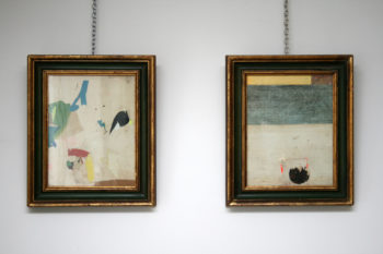 Pair of Abstract Collages by Artist Huw Griffith
