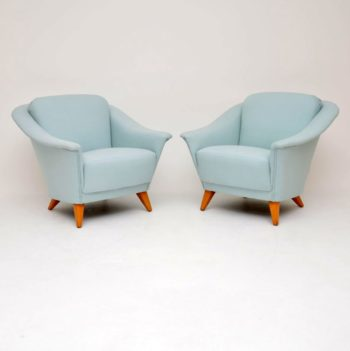 1960's Pair of Vintage Swedish Armchairs