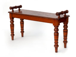 Gutsy Antique Oak Country House Hall Bench