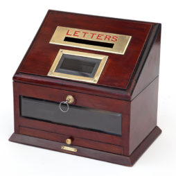Brass Mounted Mahogany Hotel or Country House Letterbox