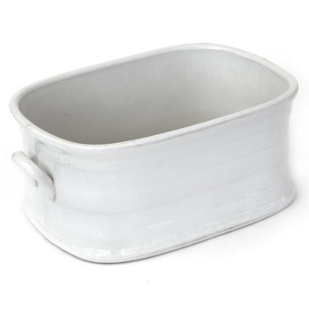 Antique White Glazed Stoneware Foot Bath