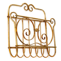 Antique Brass Wall Mounted Magazine Rack