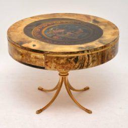 Rare 1960's Italian Coffee Table by Aldo Tura in Lacquered Parchment