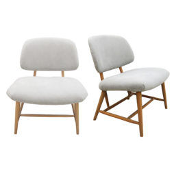 A pair of Swedish occasional chairs, mid century