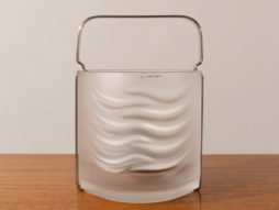 1970s Azteca Frosted Crystal Glass Ice Bucket by Fabio Frontini