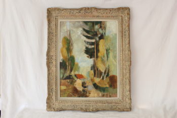 French Impressionist Landscape Painting Oil On Canvas