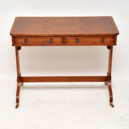 Antique Regency Style Burr Elm Writing Table