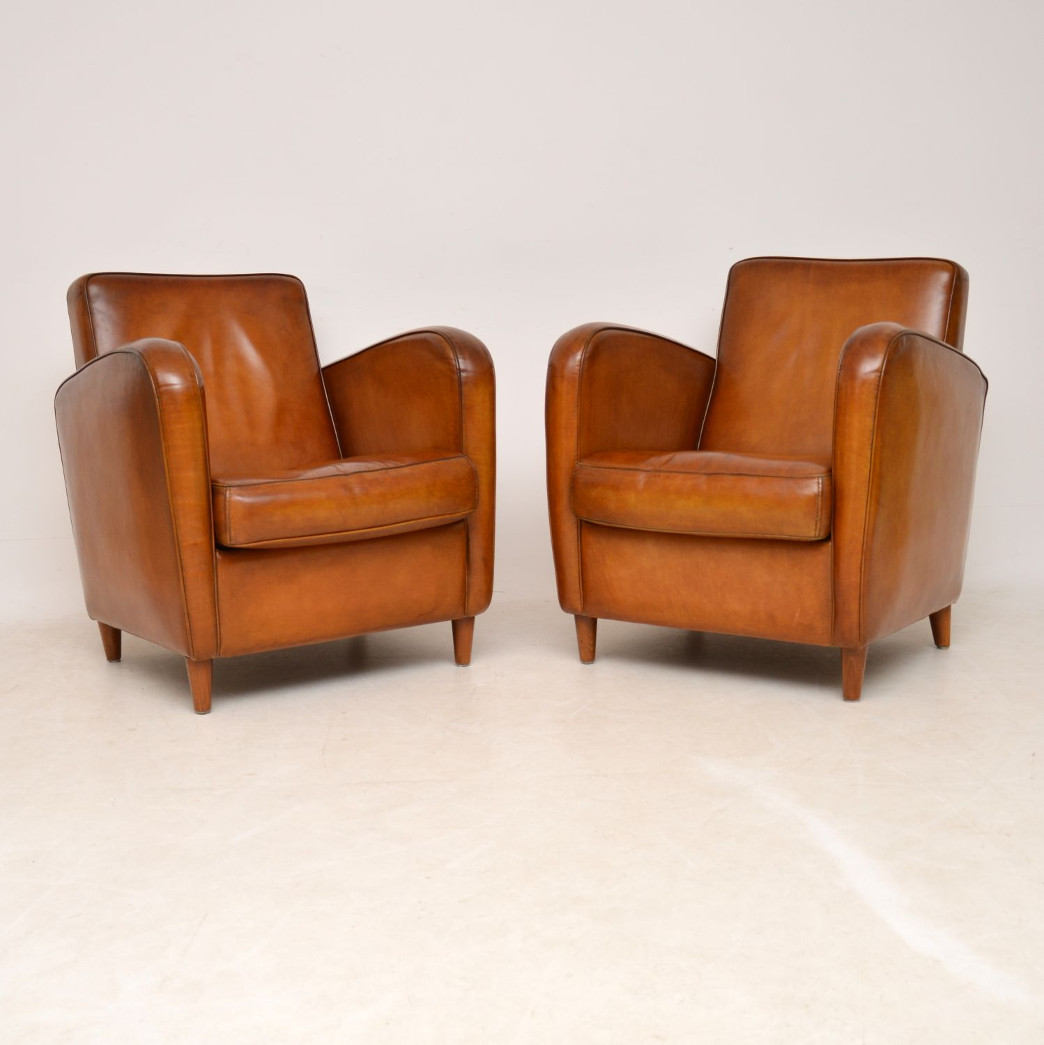 Pair of Vintage Swedish Leather Club Armchairs | Interior ...