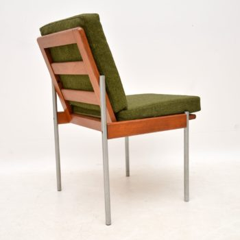 1970's Vintage Teak & Aluminium Lounge / Desk Chair