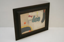 LOS TOROS Abstract Collage by Artist Huw Griffith