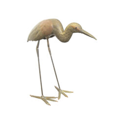 A brass and copper Heron sculpture by Sergio Bustamante